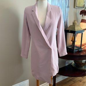Pink Topshop long blazer